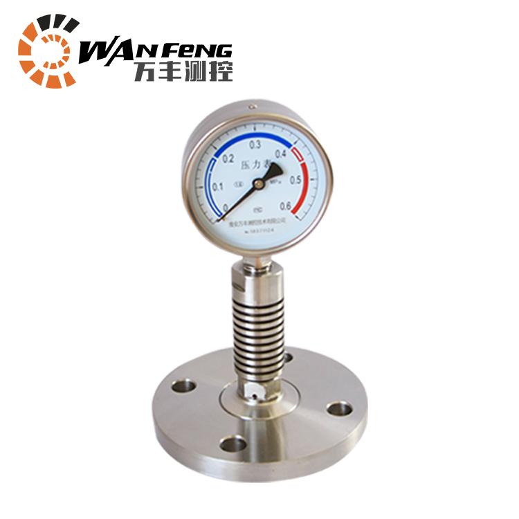 耐高温压力表,压力表带散热器,高温型压力表